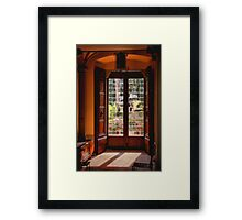 Door to the Garden Framed Print