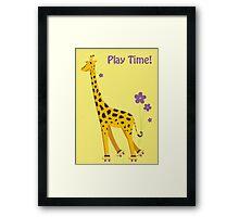 Funny Giraffe Framed Print