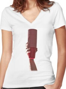 pucder? Women's Fitted V-Neck T-Shirt