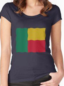 Flag Benin Women's Fitted Scoop T-Shirt
