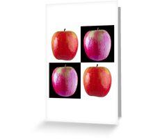 White & Black - Pink Apples Greeting Card