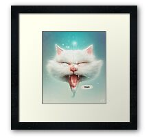 The Water Kitty Framed Print