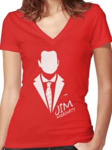 Moriartee Women's Fitted V-Neck T-Shirt