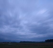 Storm clouds at dusk by Ian Middleton