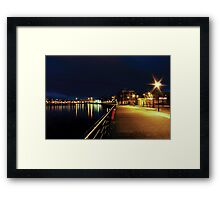 Along the Quayside Framed Print