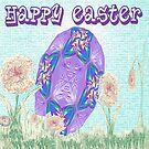Happy Easter or Pretty Foil Egg by KazM