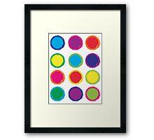 Colorful Circles Framed Print