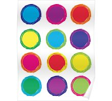 Colorful Circles Poster