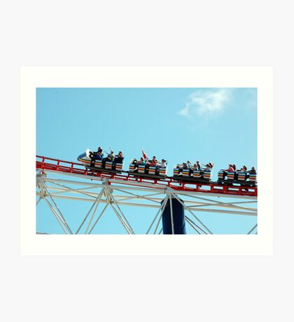 Blackpool Ride Art Print