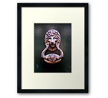 Knock on wood Framed Print