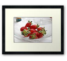 Strawberries in Season Framed Print
