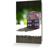 Melted House Greeting Card