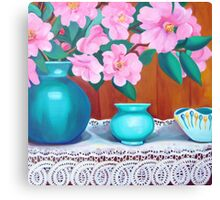Camelia still life 2 Canvas Print
