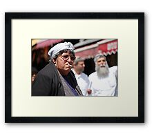 Moody in the Market Framed Print