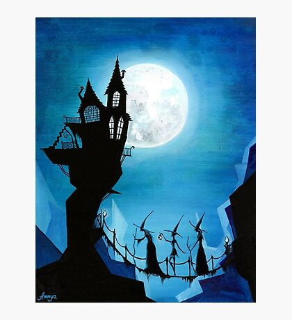 Witch Sisters Journey Home Photographic Print
