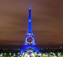 Eiffel Tower at Night by Eytan Halon