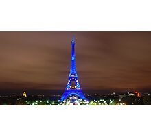 Eiffel Tower at Night Photographic Print