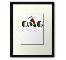 OMG What? Funny & Cute ladybug line art Framed Print