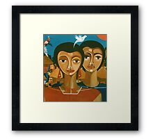 "Study for ""love is like a bird"" Framed Print"