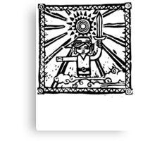 Wind Waker Block Print black Canvas Print