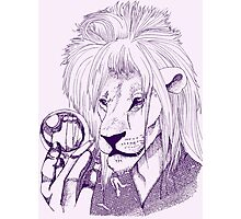 Goblin King of the Jungle (Blue Line) Photographic Print