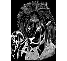 Goblin King of the Jungle (White Line) Photographic Print