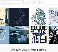 Blue Monday - 6 December 2011 by The RedBubble Homepage