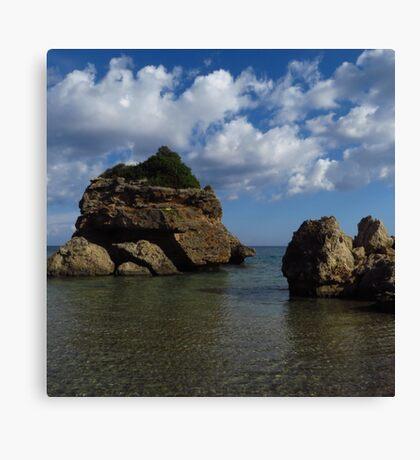 Rock Formation, Porto Zorro Canvas Print