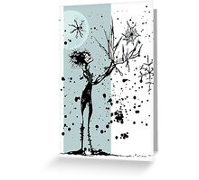 Ink Dance Greeting Card