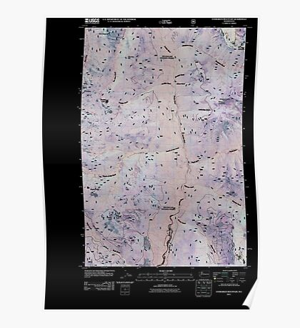 USGS Topo Map Washington State evergreen mountain wa tnm Inverted Poster
