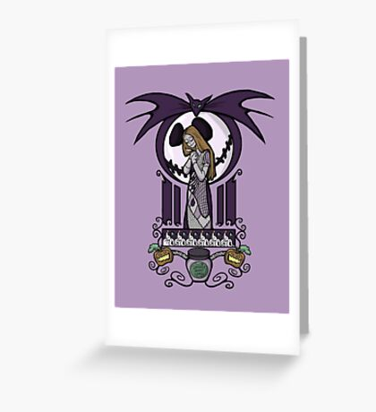 Nightmare Nouveau Greeting Card