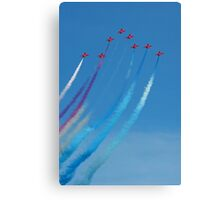 The Red Arrows arrow formation Canvas Print