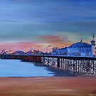 Brighton pier seaview at sunset by artshop77
