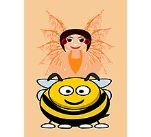 Golden Fairy and her Pet Bee scarf, etc. design Photographic Print