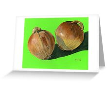pair of light bulbs Greeting Card