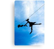 Girl with the Flower Canvas Print