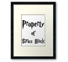 Property of Sirius Black Framed Print