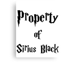 Property of Sirius Black Canvas Print