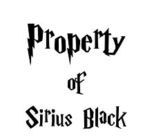 Property of Sirius Black Photographic Print