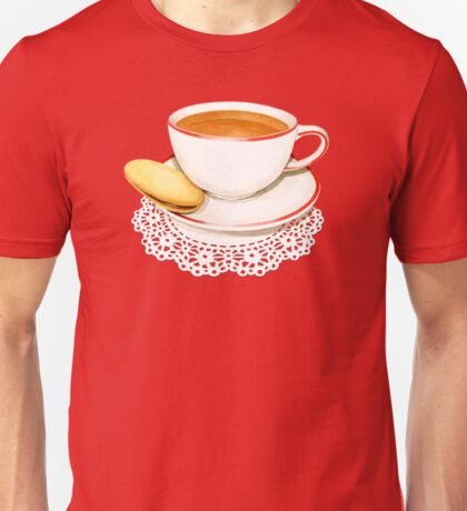 Red Gingham and Teacups T-Shirt
