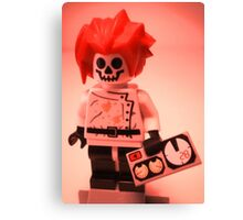 Professor Boom Custom Minifigure with Bomb Canvas Print