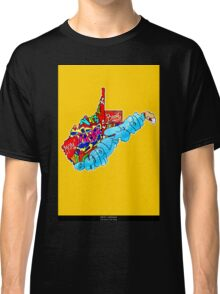 West Virginia State, Includes West Virginia State city names, West Virginia State icons, West Virginia State facts and all West Virginia Classic T-Shirt