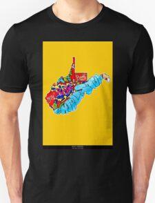 West Virginia State, Includes West Virginia State city names, West Virginia State icons, West Virginia State facts and all West Virginia T-Shirt