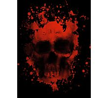 Blood And Skull Photographic Print