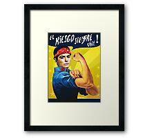 LET'S ROCK! Framed Print