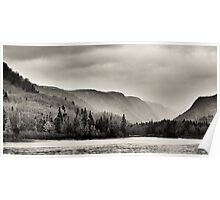 Rain in the Jacques-Cartier River Valley Poster