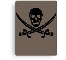 Pirate Flag Skull and Crossed Swords by Chillee Wilson Canvas Print