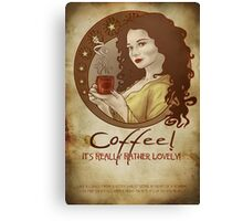 Coffee Propaganda Canvas Print