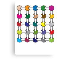 Optical Illusion Colour Spots Canvas Print
