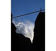 Royal Gorge Bridge and Sky  Photographic Print
